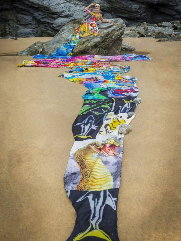 The Wave Of Waste Dress by Linda Thomas - Photographed by Clive Symm