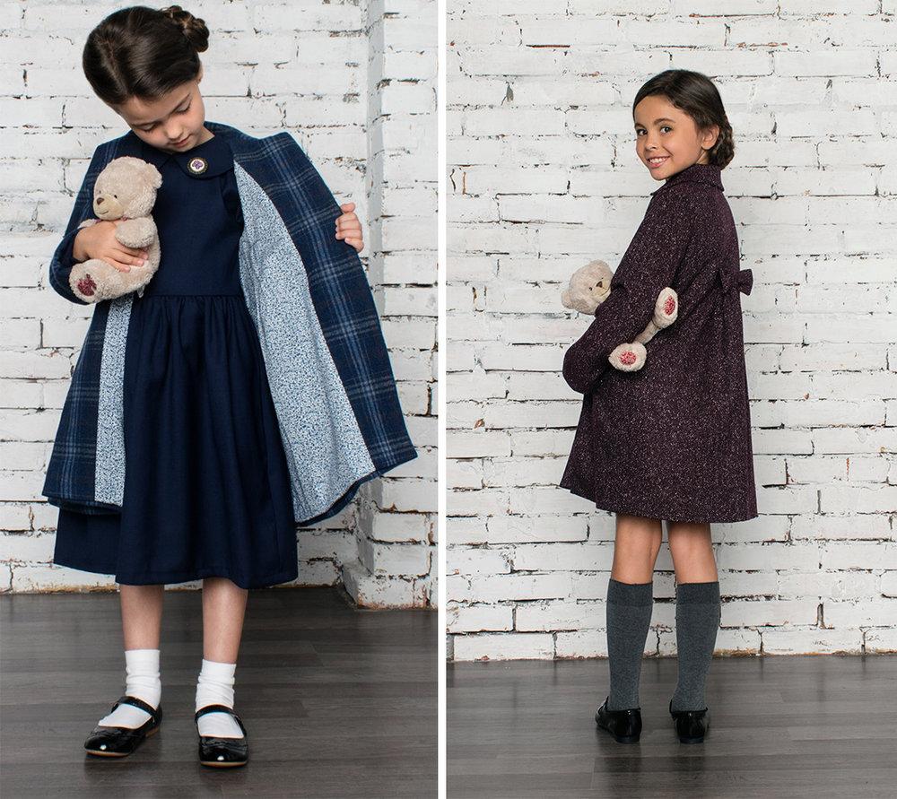 Тепле двобортне пальто для дівчинки нашого фірмового кольору «Фіалка». 9c2a9ab3258a5
