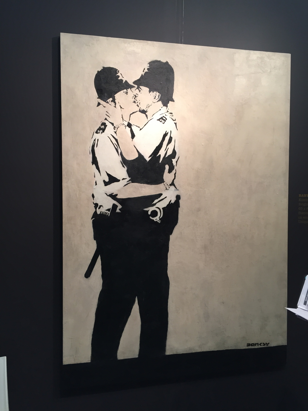 Cops Kissing - Banksy
