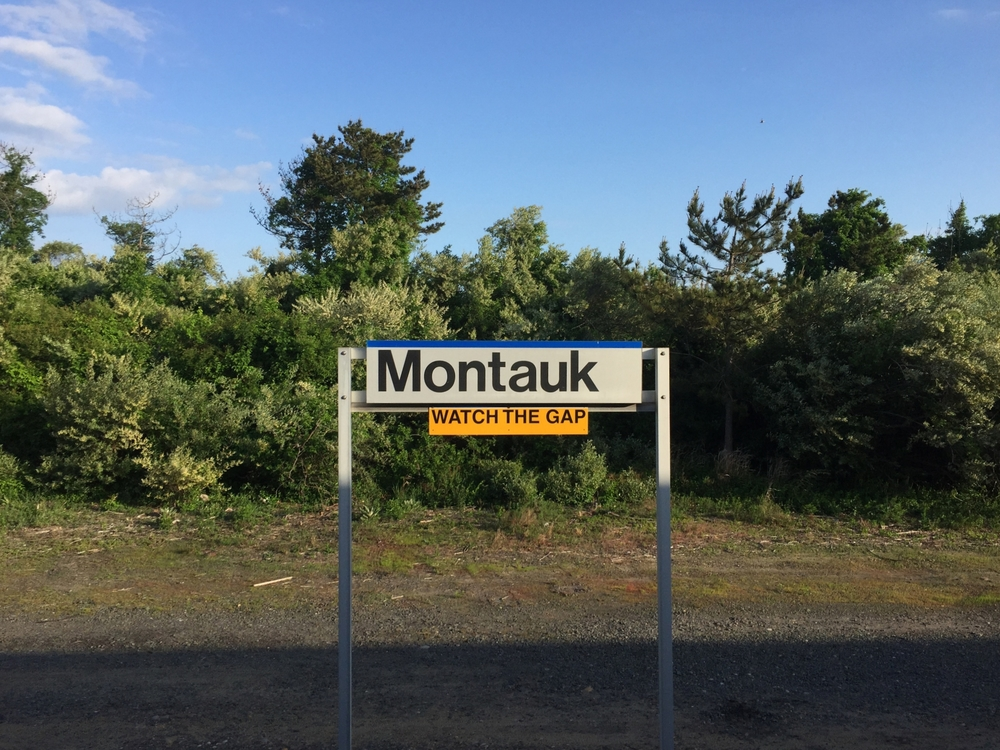 Leaving from the Montauk LIRR station, heading west back to the City.