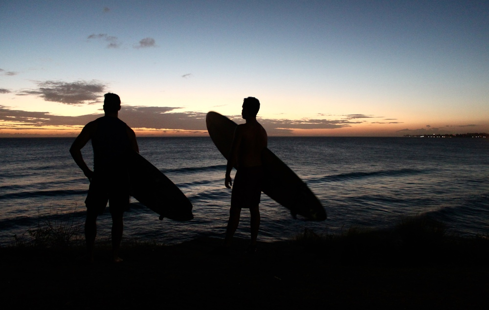 Wrapping up a solid surfing safari day at Freights Bay, Barbados.