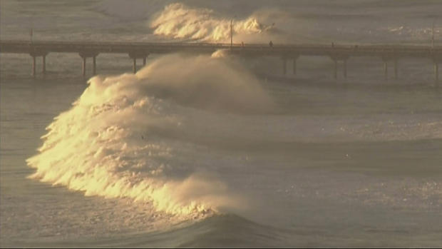 Ocean Beach (OB) Pier Closed due to High Surf Warnings