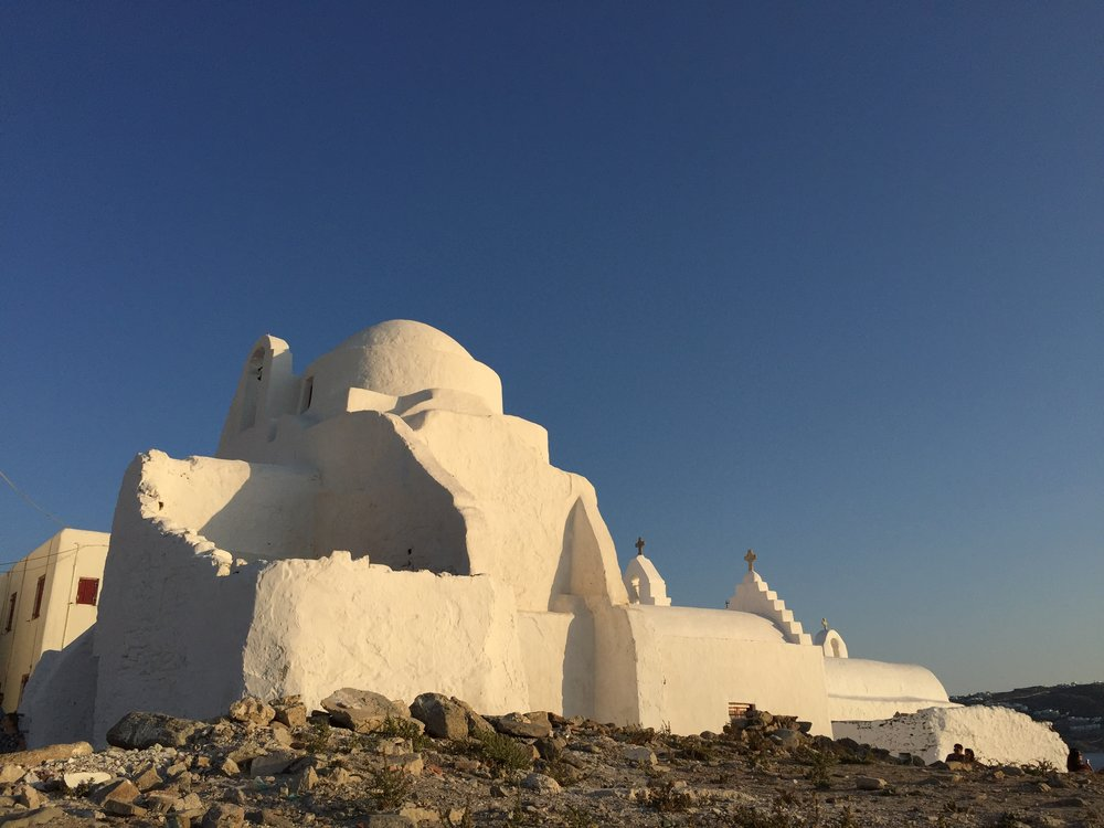 The island of Mykonos.
