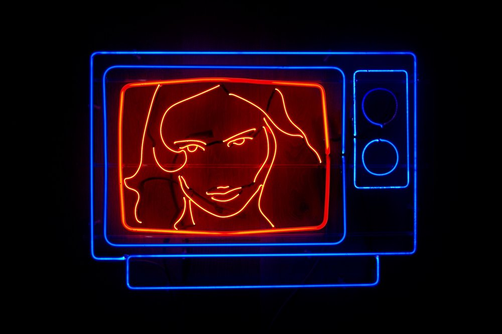 Titled 'Female Behavior', the neon images beaming back to us showcased wicked  women.