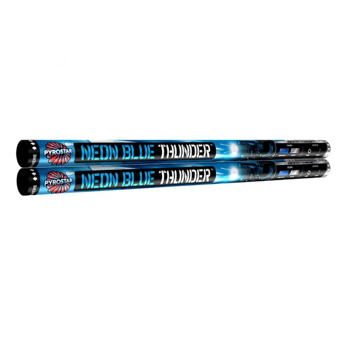 Neon Blue Thunder XL Roman Candles