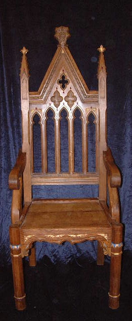 3 Gothic throne chair .JPG