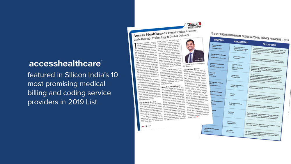 Access Healthcare featured in Silicon India's 10 most promising medical billing and coding service providers in 2019 List.jpg