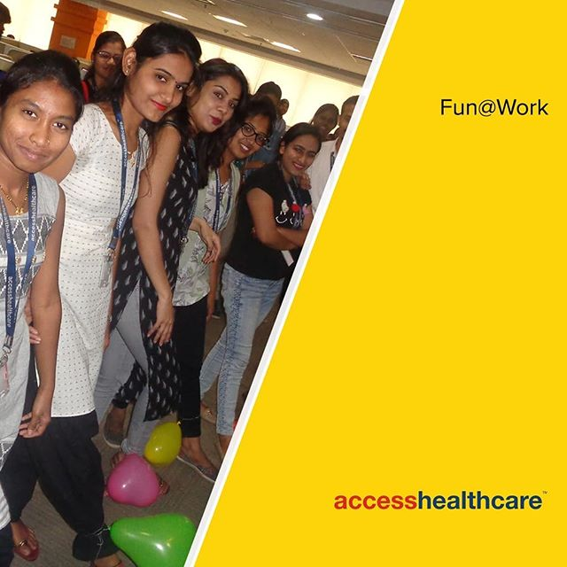 All work and no play....you know the rest! So our people in the Pune office of Access Healthcare decided to go all out and have some fun with musical chairs and balloon games on the production floor!! Check out some of the exciting glimpses.