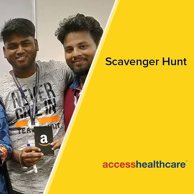 Our team members in our Kochar Technology Park facility embarked on a Scavenger Hunt contest recently. Here are some glimpses of them battling it out with their wits and wisdom, and of course enjoying some cool prizes as the spoils of the hunt! #accesshealthcare