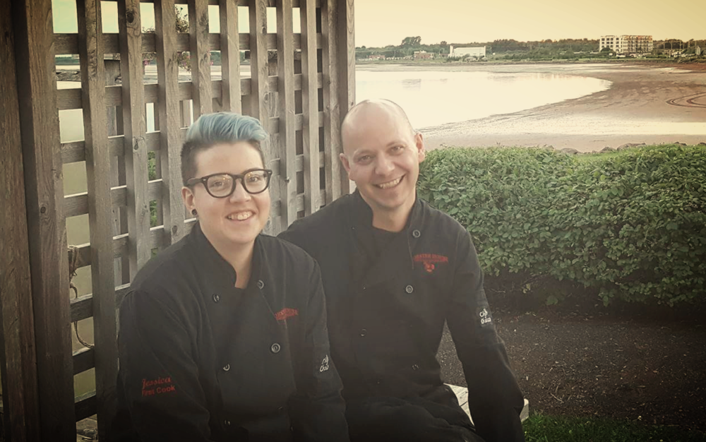 A restaurant with a view. L-R, Sous Chef Jess Pineau and Chef Jordon Burnett.
