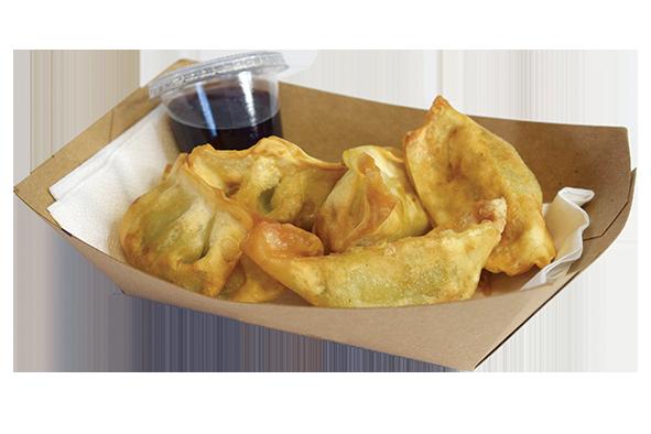 Serve Deep-Fried Gyoza as Street Food/Grab & Go