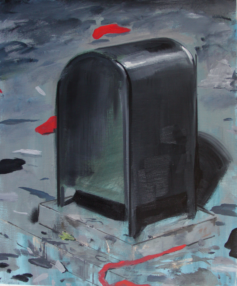 Mailbox, oil on canvas, 2015, 20x24, 2000.jpg