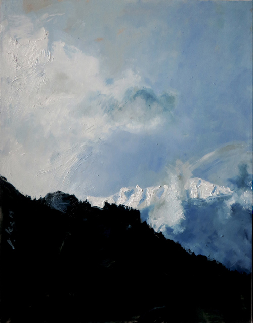Montagna Russa Emozionale Oil on canvas 22 x 28 in. 2015