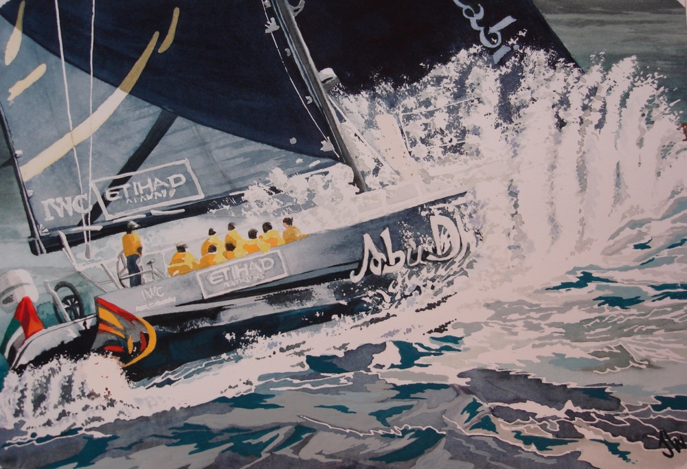 Volvo Ocean Race, 11x14, watercolor, 350.JPG
