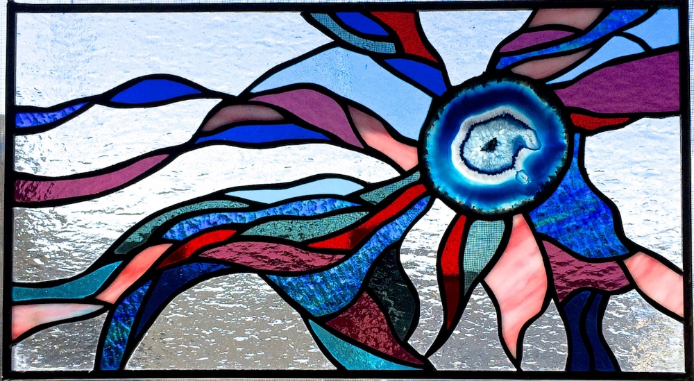 Sea Drift  Stained Glass Copper Foil 18 x 10 in   2015