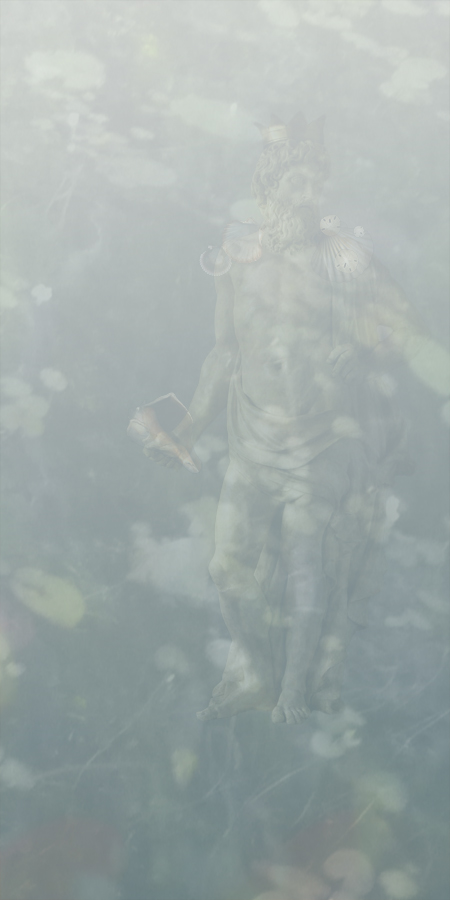 Neptune (From Metamorphoses)   Pigment inkjet print on cotton lawn  72 x 36 in.
