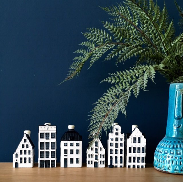 KLM delft blue houses found in a charity shop