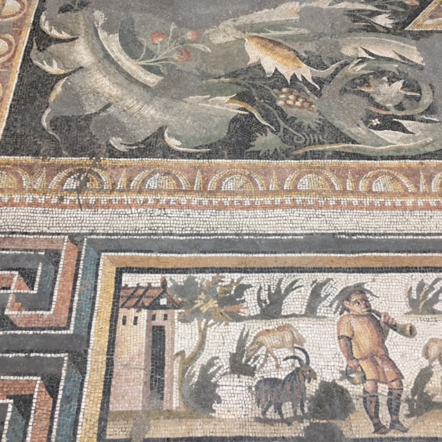 history | historic mosaic finds in Le Louvre