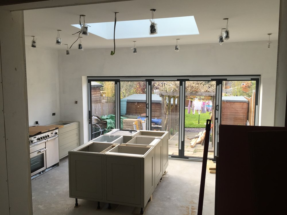 kitchen extension building works