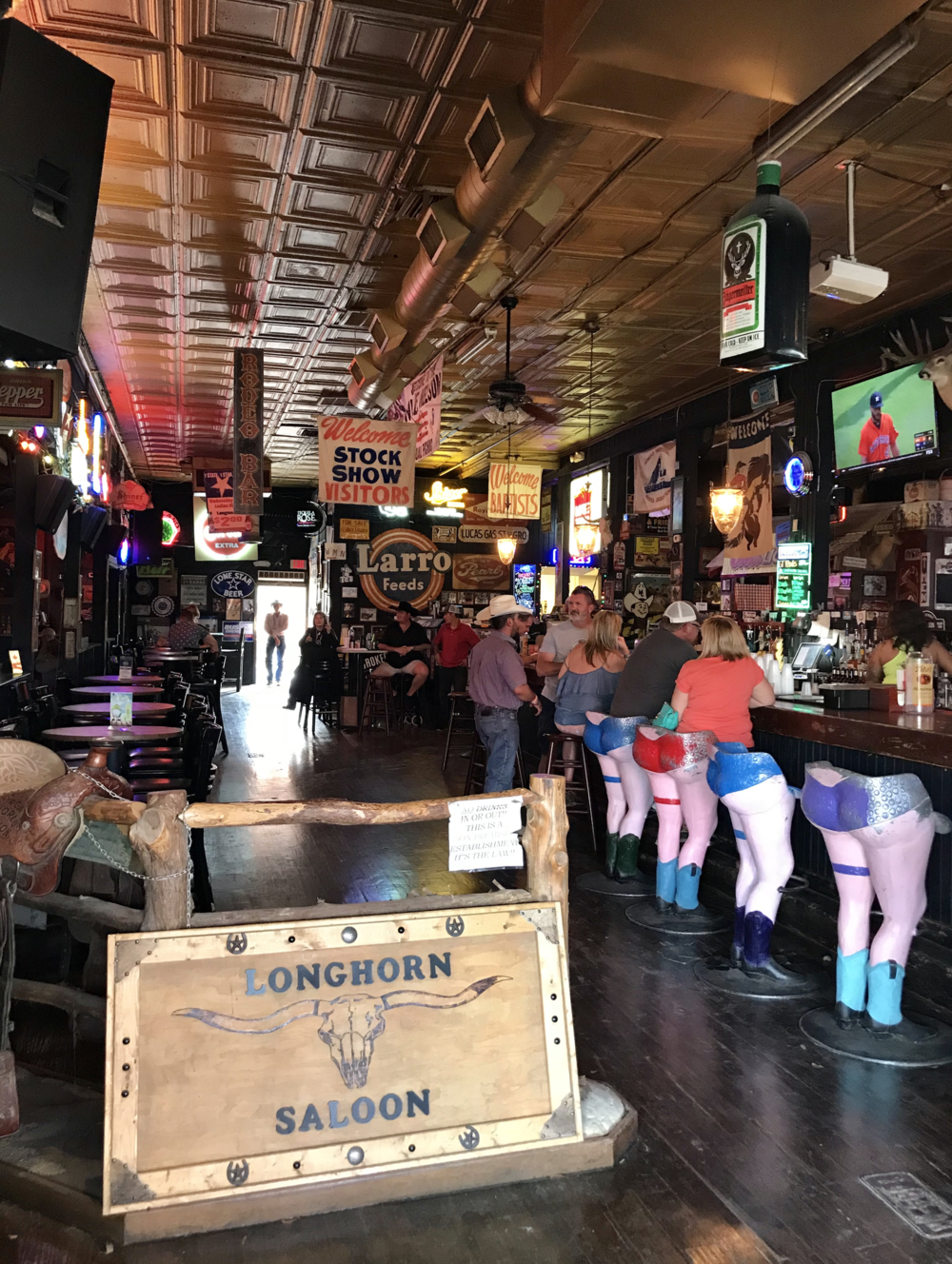 a little humour with the bar stools in Texas!
