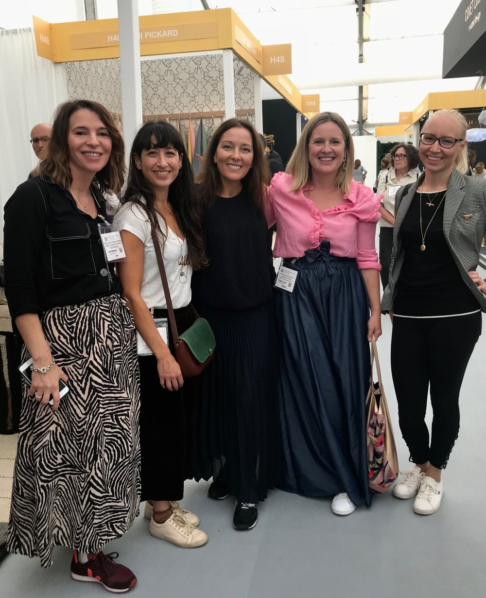 from left to right - IDC members Justine Hodgson-Barker of  Barker   Design , Emma Gurner of  Folds Inside , Fiona Duke of Fiona Duke Interiors (Me!!) ,  Sophie Robinson  and Pia Pelkonen of  Pia Design Consulting