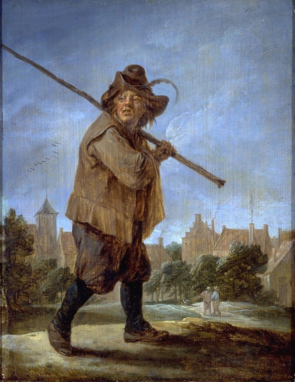 Peasant Walking, by David Teniers the Younger, circa 1670