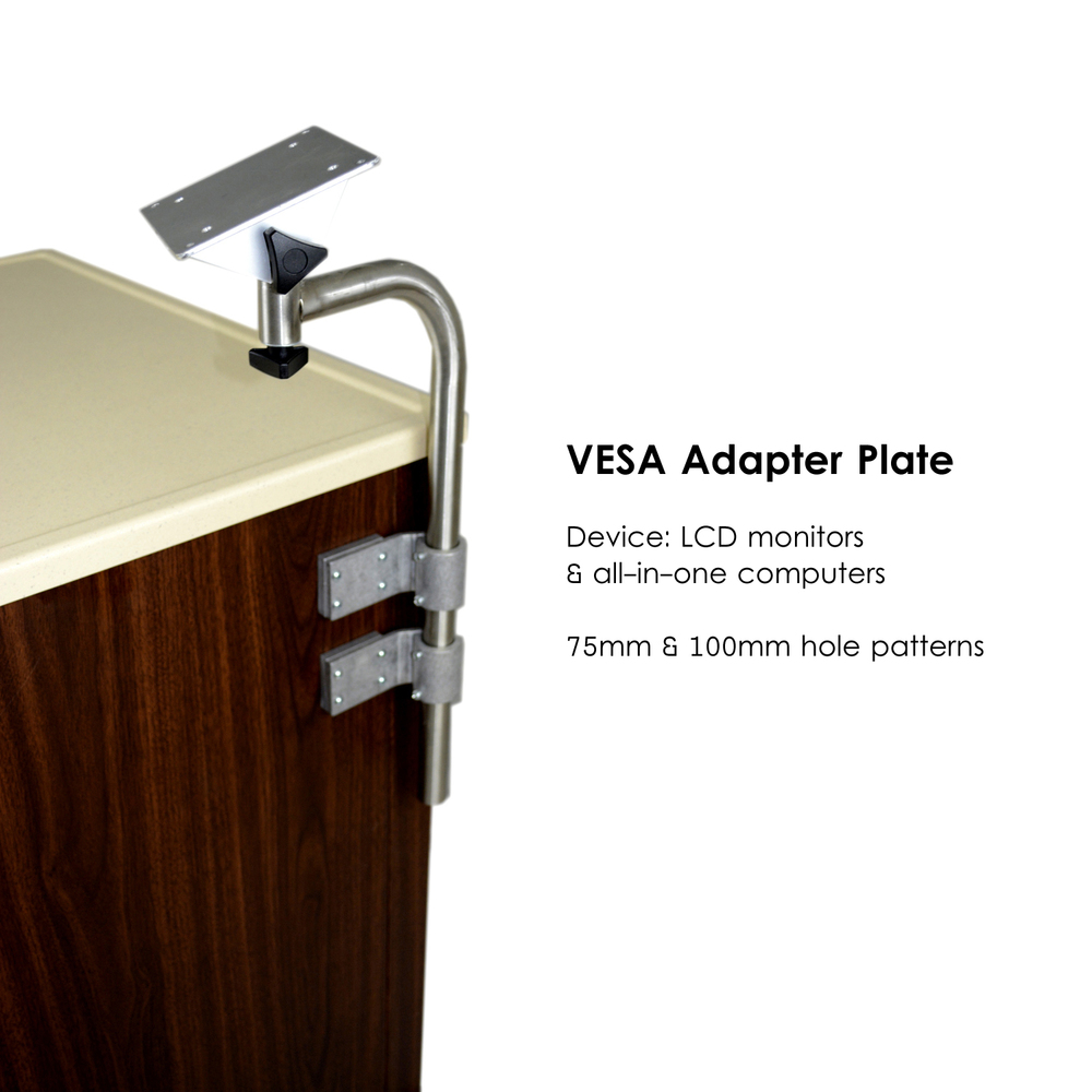 L0736-Computer Stand, Standard-for tablets    *includes VESA adapter plate