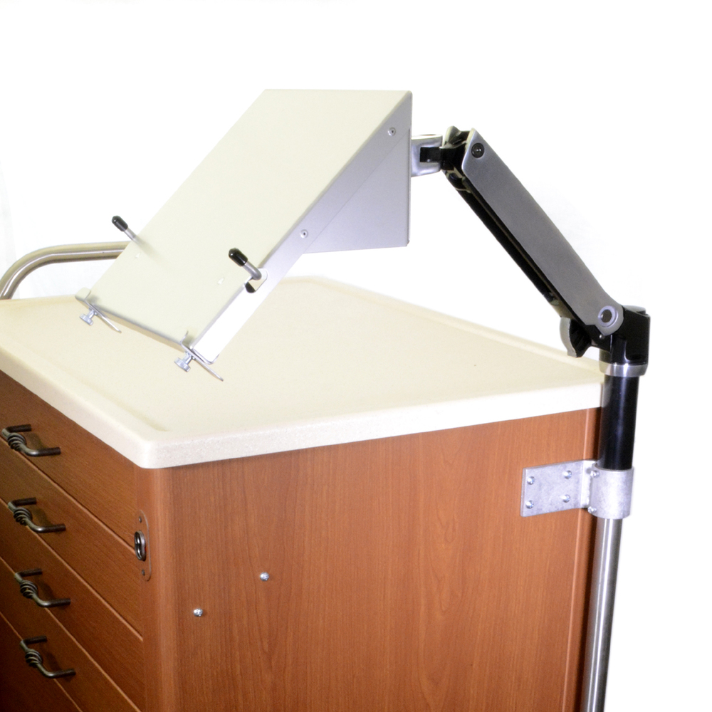 L0549-Computer Stand, Enhanced    *Shown with default laptop tray