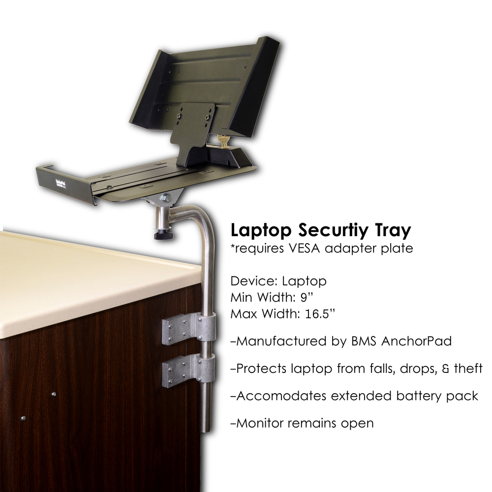 L0749-Computer Stand, Standard with AnchorPad security tray