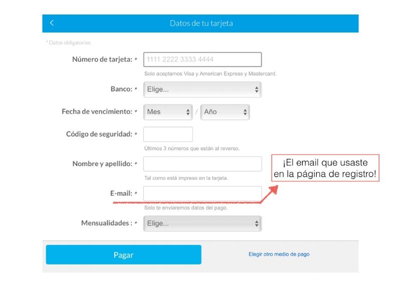Imagen para explicar que hay que poner el email de registro en la casilla correspondiente.