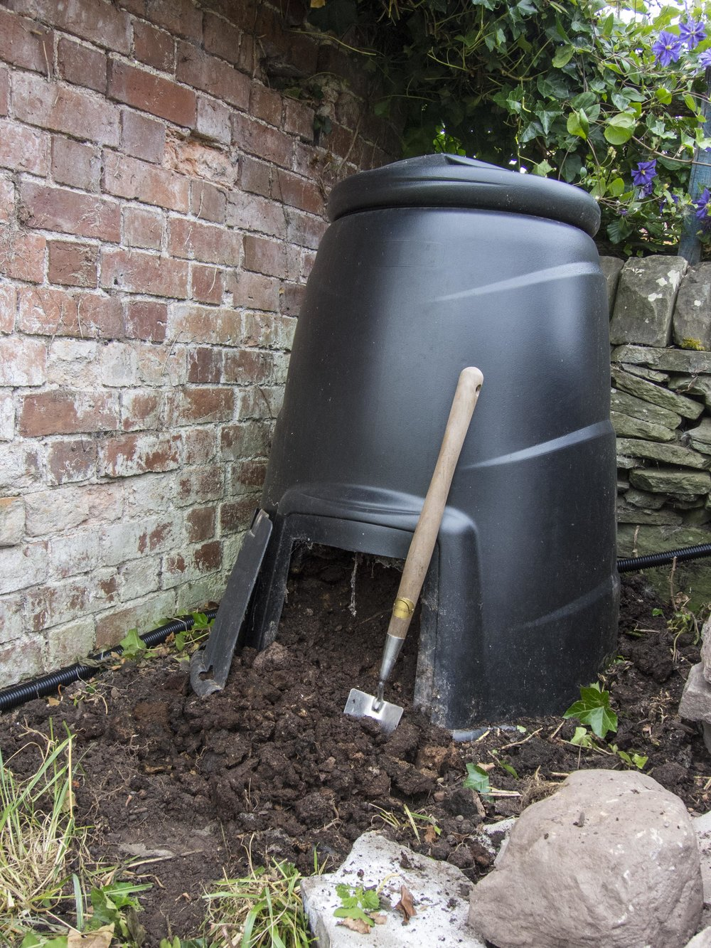 the bin - 100% recycled plastic blackwall compost converter