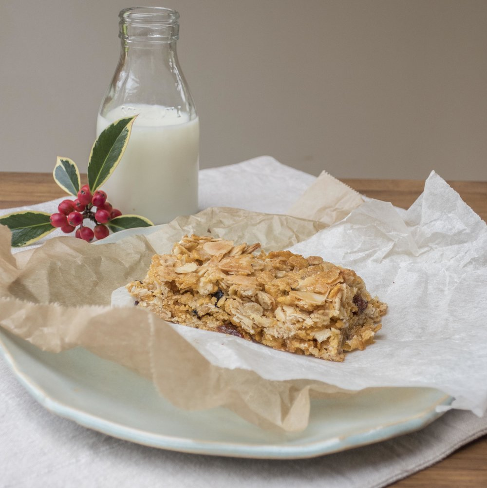 cherry and almond flapjack with milk.jpg