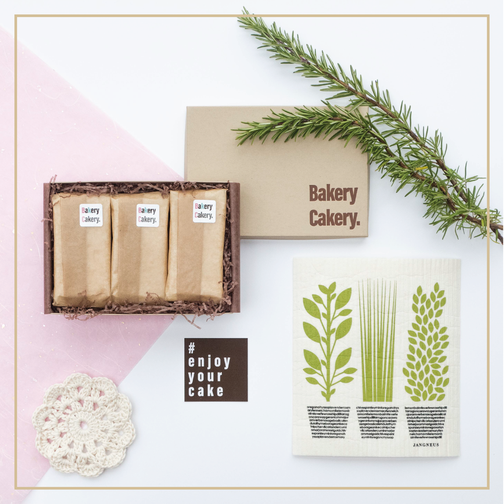 Bakery Cakery. | the organic monthly cake box | the selection box | brownie