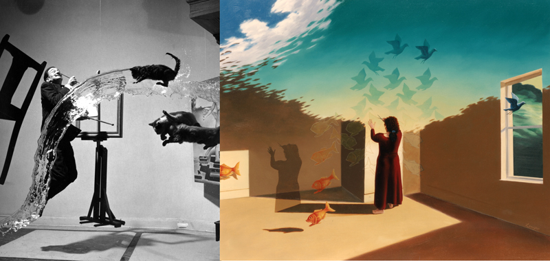 """Dali Atomicus"" Philippe Halsman, ""Escher Effect"" Jim and Lynn Lemyre"