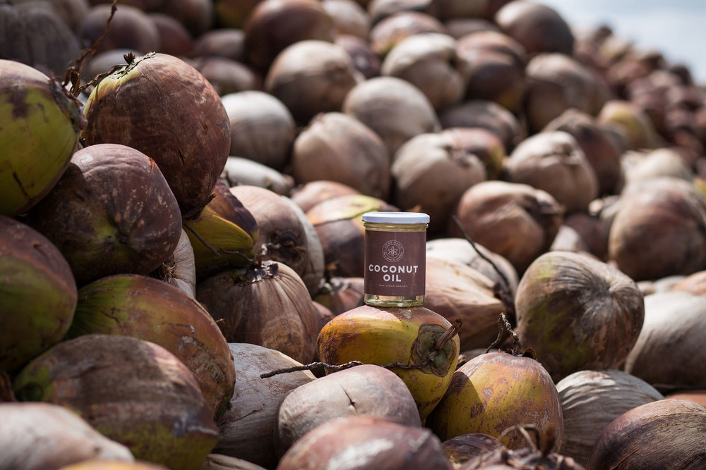 Herb Hero Coconut oil on coconuts