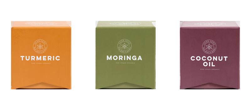 Herb Hero Turmeric, Moringa, Coconut oil