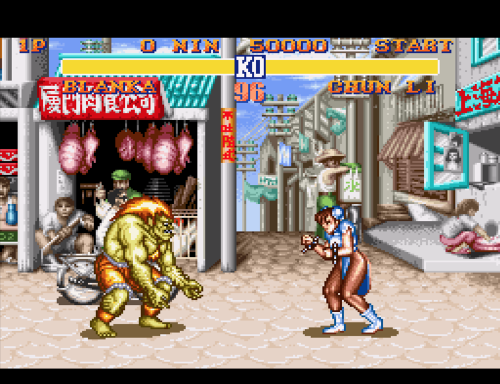Blanka vs. Chun-Li, everybody wins.