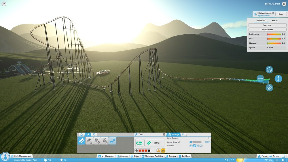 A look at my first coaster creation in progress