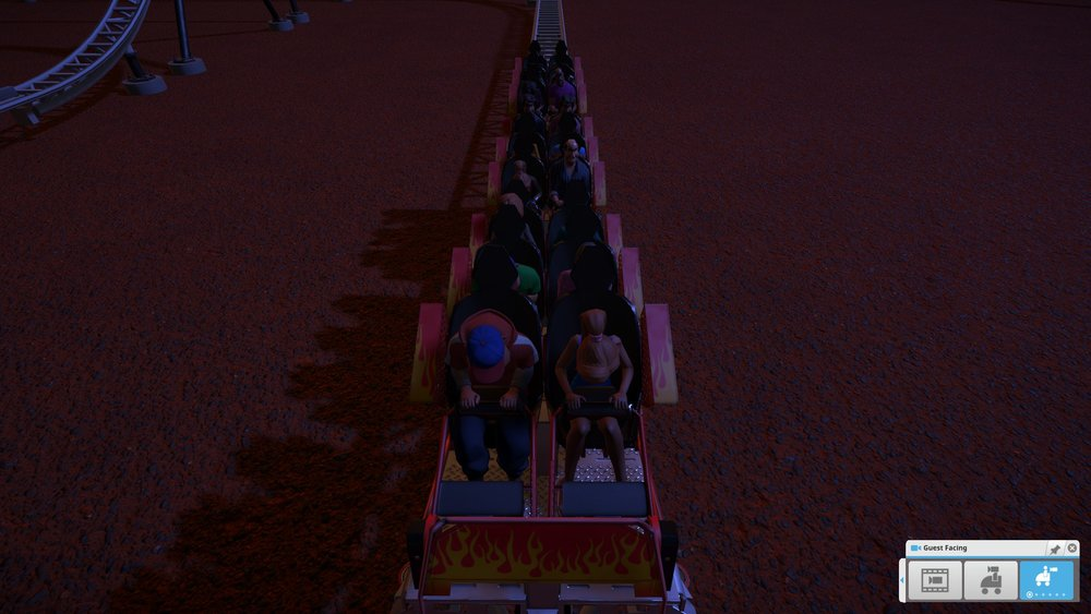 I don't think my riders liked it...(the riders up front are unconscious)