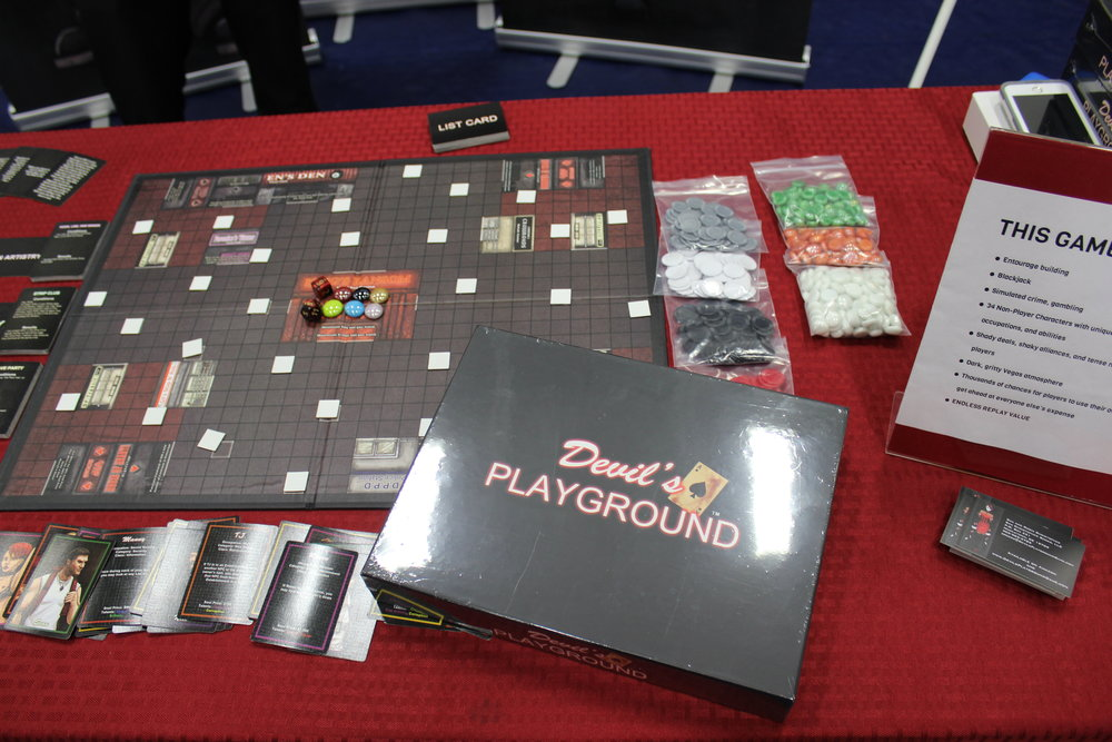 Devil's Playground board game demonstrated for a small crowd of us.