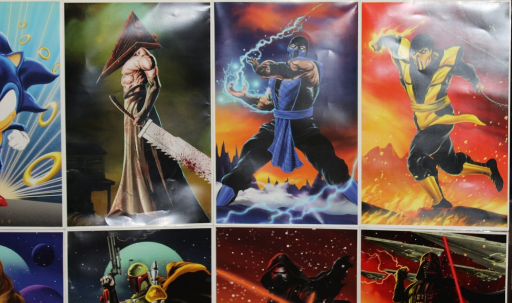 This artist had some excellent video game character prints for purchase.