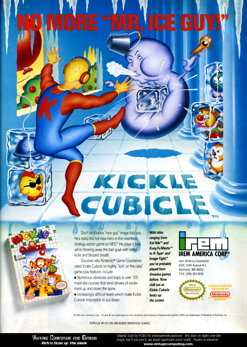 The Kickle Cubicle ad, courtesy of vintagecomputing.com