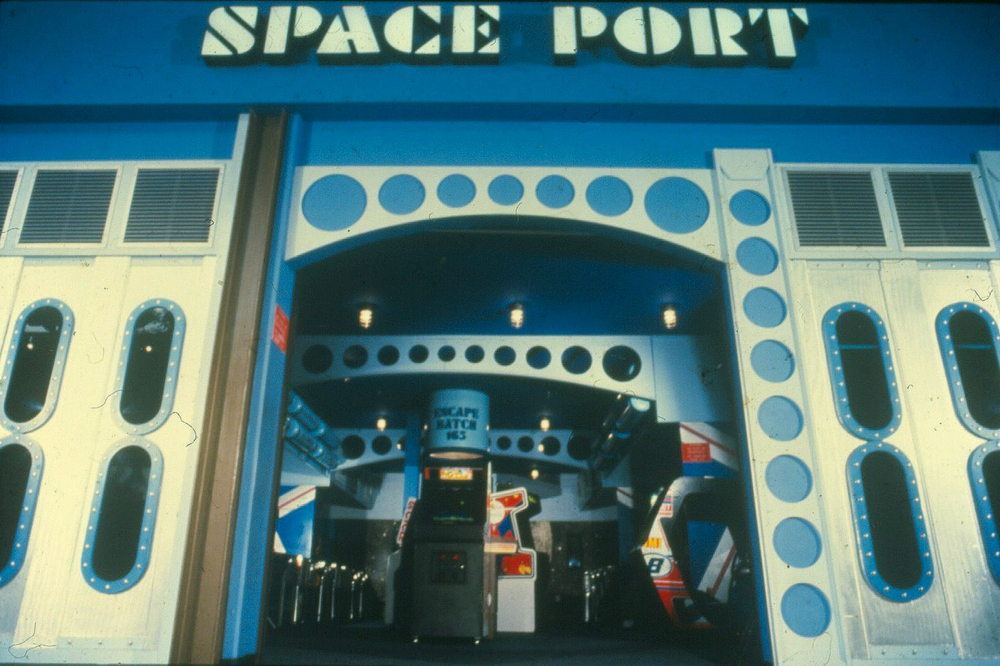 A Space Port arcade, similar to the one C.J. and Chris visited as kids in the 80s and 90's