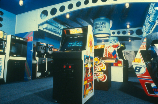 Inside the Space Port arcade, they had all of the best games to eat your quarters.