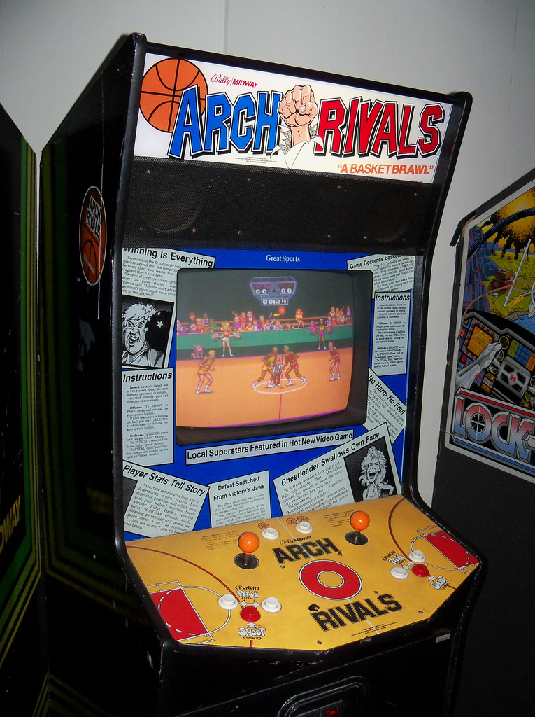 The Arch Rivals arcade cabinet