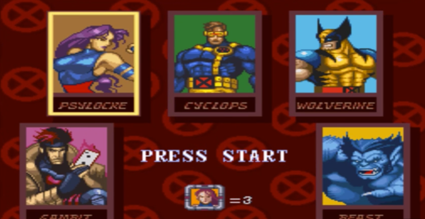 Like Mega Man, players can pick which area to visit first in X-Men Mutant Apocalypse.