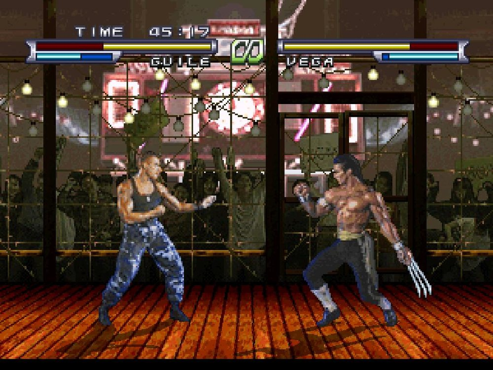 The Street Fighter Movie video game released on Sega Saturn and Sony PlayStation.