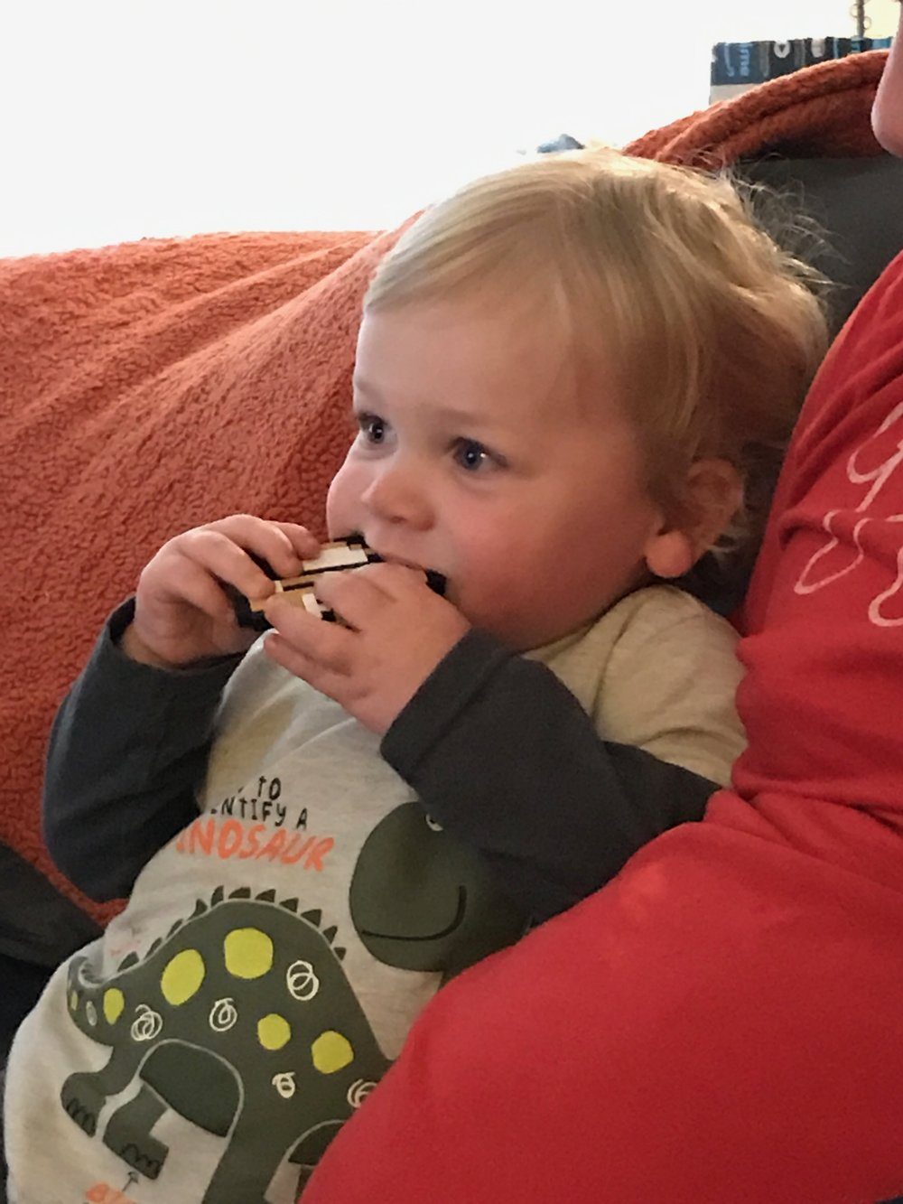 Colin (1) loves his Bumkins Goomba Teether!