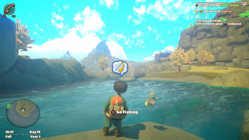 Fishing is a favorite past time in Yonder, bearing one of the more enjoyable fishing mini games we've played.