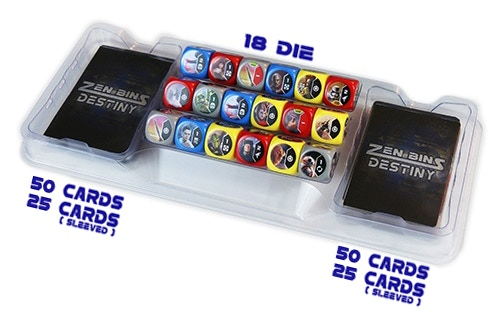 The new Star Wars: Destiny Zen Bins hold a massive amount of dice and cards when stacked.